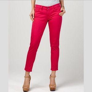 NWT Lucky Brand Magenta Sofia Capri Cropped Jeans